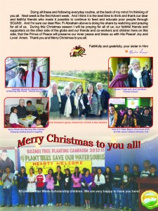 2013 Christmas newsletter, SOJASI, page-2